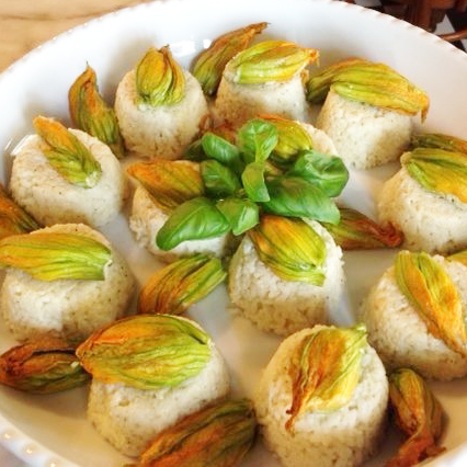 eggmilano - sformatini riso zucchine fiore ripeno